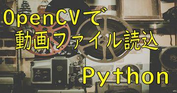 動画ファイルの読込 - OpenCV、Python徹底解説