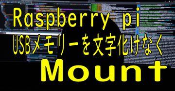 Linux ( raspberry pi ) USBを文字化けなくmountする(自動も対応)